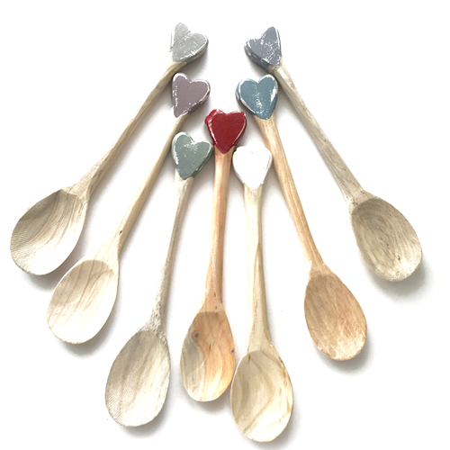 Large hand carved spoons