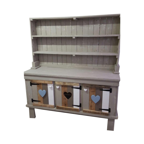 Three door open shelf unit